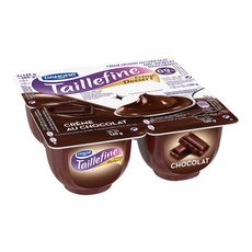 TAILLEFINE Taillefine Crème dessert allégé chocolat 0,9% MG 4x120g 4x120g