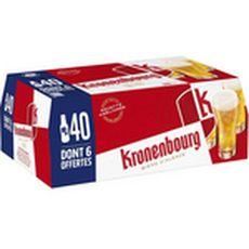 Kronenbourg Bière blonde 4,2% bouteilles 40x25cl