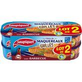 Saupiquet filets maquereaux grillés barbecue 2x120g