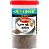 Ducros ménagère poivre gris moulu 90g + 20% offert
