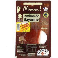Auchan Mmm! Jambon de Bayonne en tranches 5+2 offertes 140g