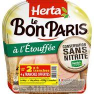 Herta jambon bon Paris 2x140g +1offert