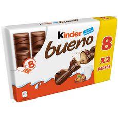 KINDER Bueno Barres chocolatées 8x2 barres 340g