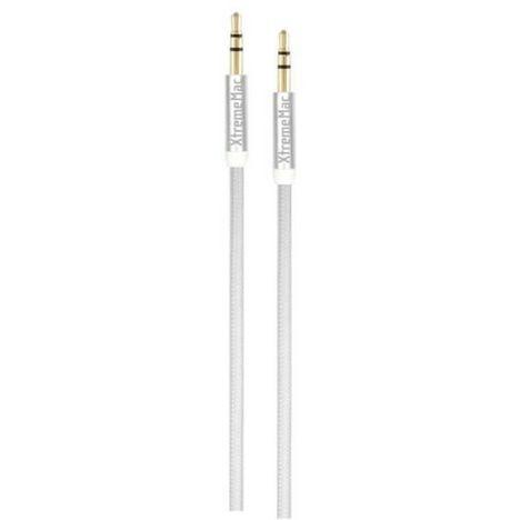 XTREME MAX Câble Audio Mini Jack/Mini Jack Mâle/Mâle 1,5 m Blanc