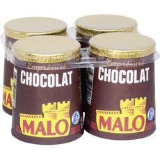 MALO Yaourt emprésuré au chocolat 4x125g