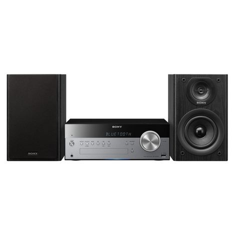 SONY Microchaîne CD Bluetooth et DAB+ - Noir / silver - SBT100B