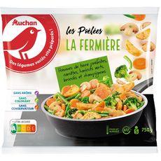 AUCHAN Poêlée fermière 5 portions 750g