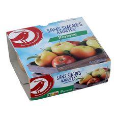 Auchan compote de pommes sans sucres ajoutés x4 -388g