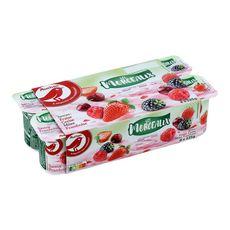 AUCHAN Yaourt aux fruits rouges avec morceaux 8x125g