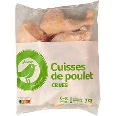 AUCHAN ESSENTIEL Cuisses de poulet crues 6-8 pièces 2kg