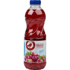 AUCHAN Boisson au jus de cranberry 1l