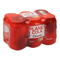 Auchan Planet cola boisson gazeuse classic extraits végétaux 6x33cl