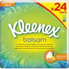 Kleenex mouchoirs balsam étuis classiques x24