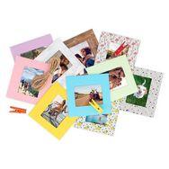 TNB Cadre photo en papier Lensy x10 + 10 pinces colorées pour Instax Mini