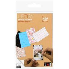 TNB Papier photo Stickers Lensy x20 pour Instax Mini