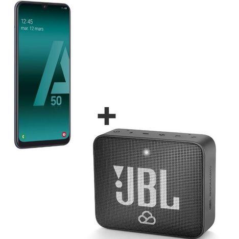 SAMSUNG Smartphone - Galaxy A50 - 128 Go - 6.4 pouces - Noir - 4G + Mini Enceinte portable JBL GO 2 Noire