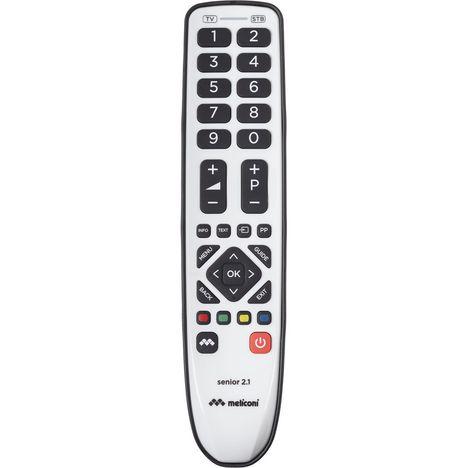 MELICONI Télécommande universelle à infrarouge Smart Senior 2.1 Gris