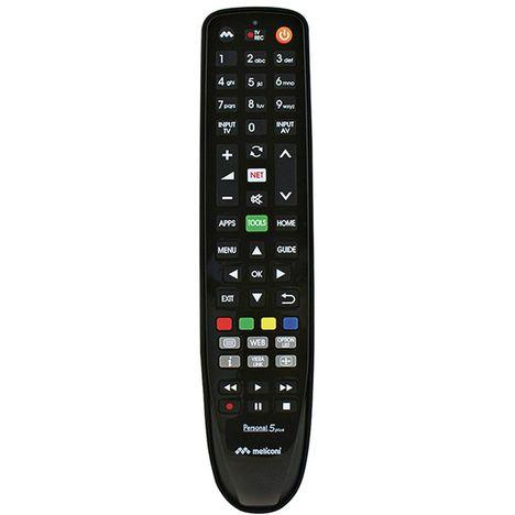 MELICONI Télécommande de remplacement Personal 5 Plus à infrarouge pour Panasonic Noir