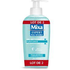 Mixa expert peaux sensibles gel nettoyant 2x200ml