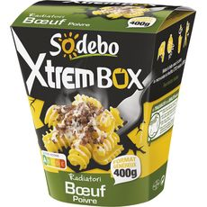 Sodebo Box radiatori boeuf poivre 400g