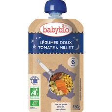 Babybio gourde bonne nuit légumes millet 120g dès 6 mois