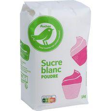 AUCHAN ESSENTIEL Sucre blanc en poudre 1kg