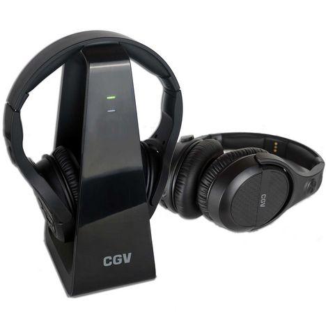 CGV 2 Casques TV & Hifi Sans Fil Prelude Duo Noir