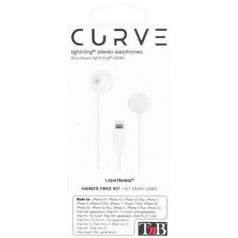 Écouteurs Curve avec câble connecteur Lightning Blanc TNB