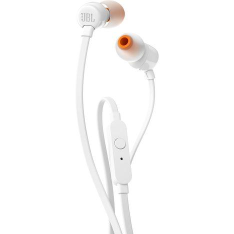 JBL Écouteurs T110 Jack 3.5 mm Intra-auriculaire Blanc