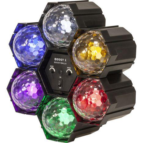 BOOST Séquenceur de lumière avec 6 Astro Ball à LED Blanc Jaune Rouge Vert Pourpre Bleu - Noir