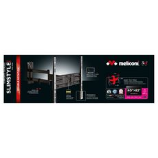 MELICONI Support TV Inclinable et Double Rotation SP 400SDR Plus 40 à 82 pouces - Noir