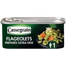 CASSEGRAIN Flageolets extra-fins oignons et carottes 130g
