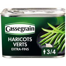CASSEGRAIN Haricots verts extra-fins sélection cueillis et rangés main 390g
