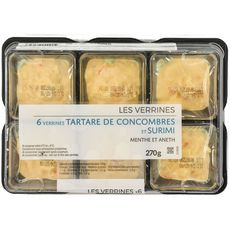 Verrine tartare de concombre et de surimi 6x45g