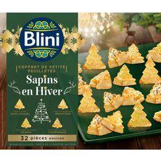 BLINI Blini Coffret de petits feuilletés sapins en hiver 335g 32 pièces 32 pièces 335g