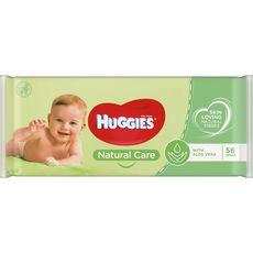 Huggies Natural care lingettes nettoyantes à l'aloe vera pour bébé x56