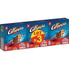 GRANOLA Granola Barre extra cookie enrobée de chocolat au lait 3x168g 18 barres 3x168g
