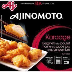 AJINOMOTO Beignets de poulet mariné à la sauce soja et au gingembre 9 pièces 180g