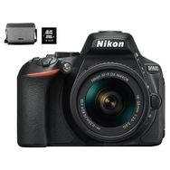 NIKON Appareil photo reflex D5600 Noir + 15/55 VR + carte mémoire 16 Go + Sac