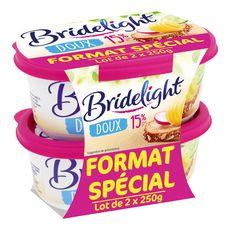 BRIDELIGHT Bridelight beurre doux 15%mg 2x250g offre spéciale