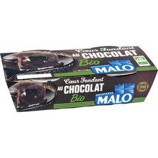 MALO Dessert fondant au chocolat bio 2x90g