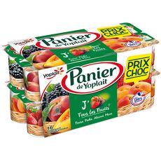 Panier de Yoplait Yaourt aux fruits fraise pêche abricot mûre 16x130g