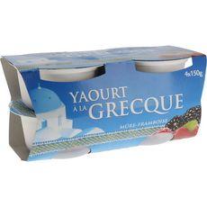 DISCOUNT Yaourt à la grecque sur lit de mûres 4x150g
