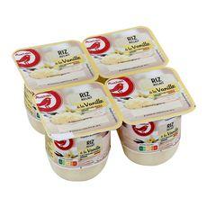 AUCHAN Riz au lait à la vanille 4x115g