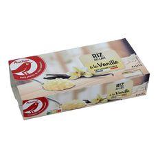AUCHAN Riz au lait à la vanille 8x115g