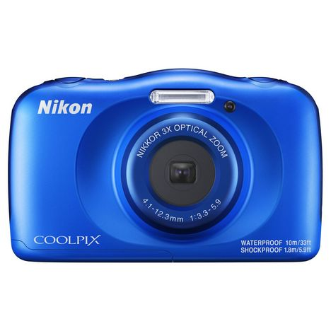 NIKON Appareil photo compact étanche Coolpix W150 Bleu + Sac à dos