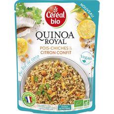 CEREAL BIO Quinoa royal vegan pois chiches et citron confit au lait de coco en poche 220g