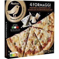Gourmet AUCHAN GOURMET Pizza 4 fromages cuite au feu de bois