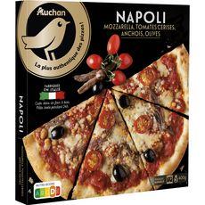 AUCHAN GOURMET Pizza napoli cuite au four à bois 400g