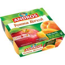ANDROS Spécialité pomme abricot 4x100g